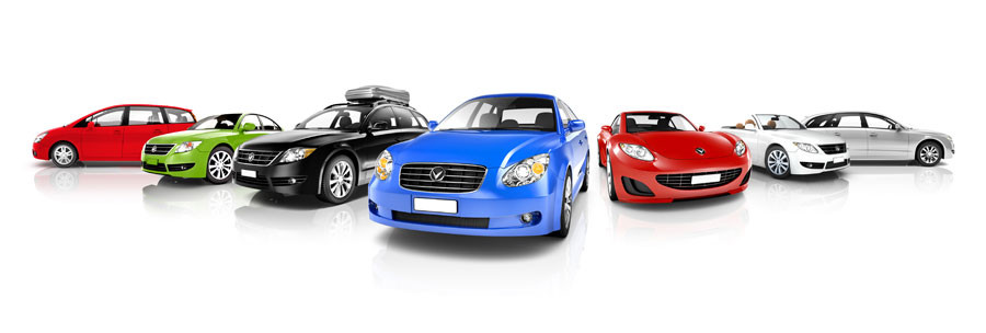 Vehicles Collection Isolated on White